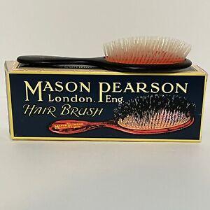 Mason Pearson Hair Brush (N3) Handy Nylon Dark Ruby Authentic **Ships from USA**