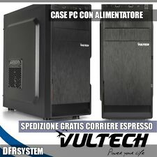 Vultech GS-1696 CASE ATX PC Middle Tower con Alimentatore 500W SLOT SSD PCI USB