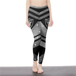 OAKLAND RAIDERS LAS VEGAS RAIDERS Women's Yoga Pants Tights Leggings Football