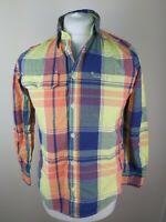 Ralph Lauren Long Sleeve Check Shirt Small Man Teenager 38 Chest Short