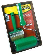FFJ 2 Piece Shed / Fence Roller Kit Woodstain Varnish Decking Brushes (FFJ7SFRK)