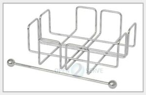 Simply Wire - Napkin Serviette Holder With Weight - Home Decor Dining - Chrome