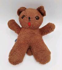 "Gund Teddy Bear Brown Plush 10.5"" Tall Japan Vintage Plastic Eyes"