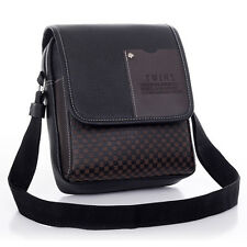Men Black Handbag Briefcase Shoulder Messenger Bag Satchel Man School Travel