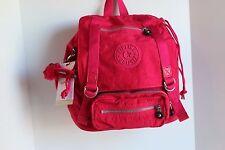 NEW Kipling Backpack Joetsu Flamboyant Hot Pink BP3828 661 Small 11.75X10.5X7.25