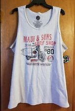 NWT. Men's Maui & Sons Surf Shop Tank Size XL
