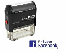 NEW ExcelMark Find Us On Facebook Self Inking Rubber Stamp A1539 | Blue Ink