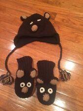 Boys Nirvana Design Hat And Gloves Boys 100% Wool Fleece Lining/ Polyester.