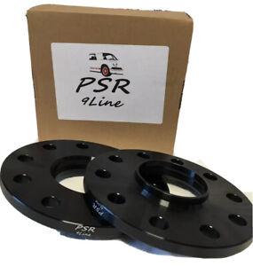 10mm Porsche 5x130 Hubcentric Wheel Spacers to Fit C2 C4 C4S. Black PSR 9-Line