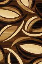 PREMIUM 3D Hand Carved Modern 8X10 8X11 Rug Contemporary 1070 Brown Chocolate