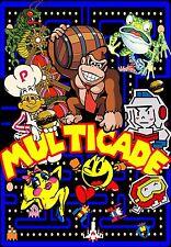 "2 PACK NEW MINI DESIGN DK Arcade Classics Side-art  Multicade  8"" x 6.5"""