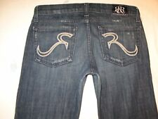 Rock Republic Womens Jeans Stella Low Slim Straight Distressed Sz 27 P