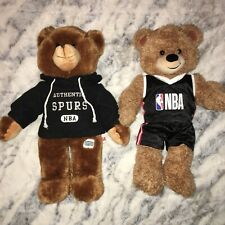 NBA plush bears ; SPURS / Build-A-Bear (2 total items)