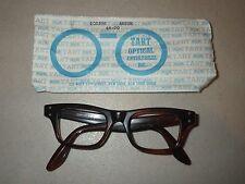Authentic Tart Optical Mens Eyeglass Frame Boeing Amber size 44-20 - NOS