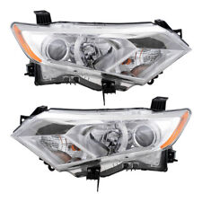 Halogen Headlights Set for 2012-2017 Nissan Quest Van Pair Combination Headlamps
