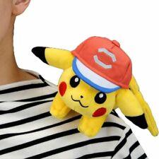Takara Tomy Pokemon Pikachu 15cm Plush Doll on Shoulder Satoshi Cap version