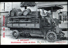 """DORMANS (51) CAMION de LIVRAISON DISTILLERIE """"DISTILLATION & VINS / A. DOUBLET"""""""