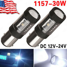 2x 12V-24V 1157 High Power 30W led Tail Brake Stop Turn Signal Light Bulbs 2057