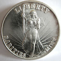 "RARITIES MINT ""RM"" LIBERTY ANAHEIM EAGLE OLD VINTAGE .999 FINE SILVER,1 TROY OZ"