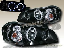 FIT 2002 2003 MAXIMA JDM BLACK TWO HALO HEADLIGHTS LAMPS 02 03