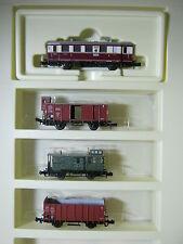 Minitrix n 1078 tren set junto a ferrocarril VT 135 055 tren de carga DRG 4 piezas (RG)