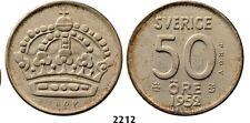 PegasusAuctions_com: 2212. Sweden, Gustav VI Adolf, Pattern 50 Öre 1952-TS
