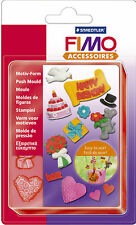 FIMO Sculpey Clay Push Moulds Party Time For Modelling Jewellery Craft Art Fun 4