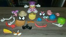 1995 Hasbro Baby Potato Head Body with 1985 , Spiderman , monkey & Bird parts