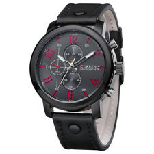 CURREN Mens Business Casual Sport Watch PU Leather Analog Quartz Wristwatch 8192