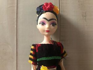 Inspired Frida Barbie Kahlo Mexican Doll