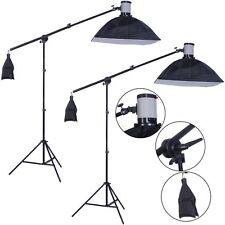 US 2Pcs 160W Photography Lighting Studio Flash Light Strobe Lamp Softbox Stand