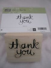 Stampin Up Wood Mount Stamp Set Watercolor Thank You