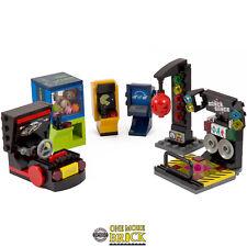 Arcade Machines - Pac Man, Frogger, Car, Punch Bag, Dance, Claw | All parts Lego