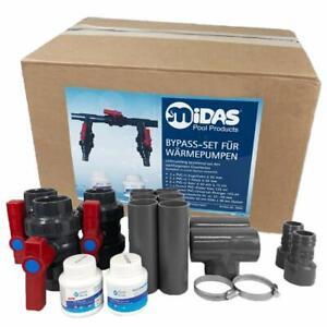 Midas Pool Bypass Set für Wärmepumpen, Poolheizungen und Solarheizungen