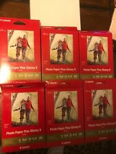 Canon Photo Paper Plus Glossy II PP-301 4x6 Inkjet Lot Of 6.5 Packs 650Sheets