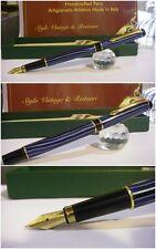 Stilografica HERO Ble Striated Flute 385 fountain pen - stylo Nib F