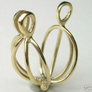 Natural 14K Yellow Gold Necklace Cage