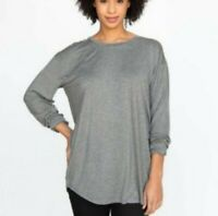 NWT Agnes and Dora Size XXL 18-20 Women's Gray Top, Long Sleeves Hi Lo Hem Tunic