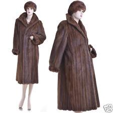 Gorgeous Real Sable Brown Female Mink Fur Coat w/FREE Mint Mink Hat