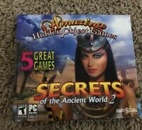 NEW 5 Amazing Hidden Object Games Secrets of The Ancient World 2 PC Games