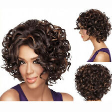 EE_ EG_ Charming Short Curly Women Hair Wig Dyed Synthetic Hairpiece Lady Cospla