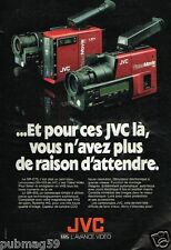 Publicité advertising 1988 TV Hi Fi Video caméra  VHS JVC