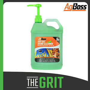 AgBoss Hand Cleaner 5 Litre Mint Grit Heavy Duty Grease Remover Aus Made
