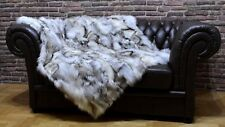 Luxury Blue Frost Fox Throw Blanket