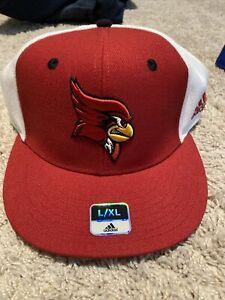 New Louisville Cardinals Fitted Hat Cap Adidas L/XL Baseball Basketball