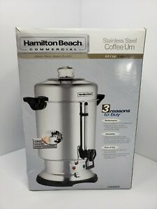 Hamilton Beach Commercial 60 CUP Coffee Urn Stainless Steel Coffee Maker Pot