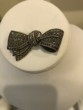 Judith Jack Sterling Silver Marcasite Bow Brooch
