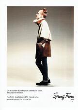 Publicité Advertising 107   2011  Sprung Frères  fourrures manteau