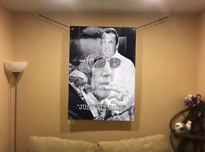 BIG! 44x30 AL DAVIS  Vinyl BANNER POSTER Oakland Raiders Bo Jackson art man cave