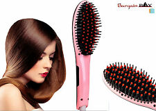 Hair Straightener Electric Professional hair brush LCD Heat Settings Anti Scald